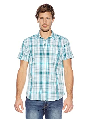 Wrangler Camisa Jerime (Turquesa / Blanco)