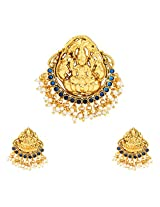 Ethnic Indian Artisan Jewelry set Pendant Set without chainABPE0232BL