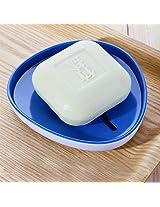 1pc Fashion soap dish fashion soap box double layer handmade drain rack soap