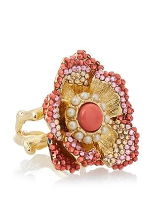 Judith Leiber Pink Flower Ring