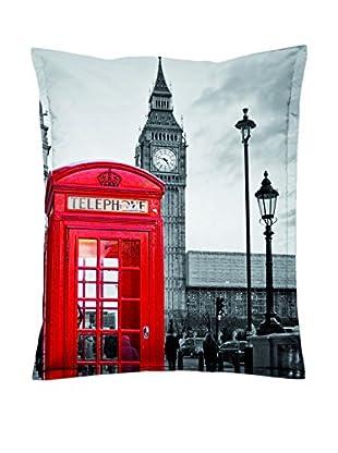 Sitting Bull Puff Grande Sb Super Bag London Gris/Rojo