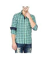 Slub Mens Casual Shirt(SLSH000890D-XL_Green_XL)