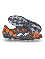 Nivia Raptor-I Football Shoes, Men's 4 UK (Black/Orange)