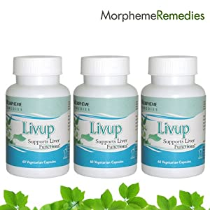 Morpheme Livup Supplements For Liver Care - 500mg Extract - 60 Veg Capsules - 3 Combo Pack