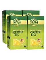 LaPlant Lemon & Ginger Green Tea - 100 Tea Bags (Pack of 4)