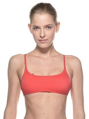Diana Sujetador Twin-Stripe (Rojo)