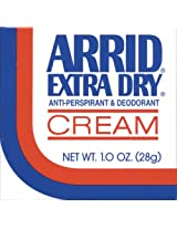 Arrid Extra Dry Anti Perspirant & Deodorant Cream 1 Oz (Pack Of 4)