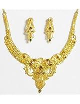 DollsofIndia Gold Plated Bridal Necklace Set - Metal - Golden