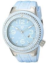 Swiss Legend Men's 21818P-12 Neptune Light Blue Dial Light Blue Silicone Watch