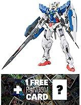 Gn 001 Gundam Exia: Gundam Real Grade 1/144 Model Kit + 1 Free Official Gundam Japanese Trading Card Bundle [Rg #015]
