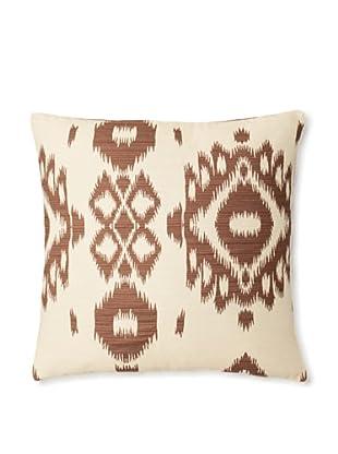 The Pillow Collection Gaera Ikat Decorative Pillow (Chocolate)