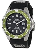Invicta Men's 12560 Pro Diver Black Carbon Fiber Dial Black Polyurethane Watch
