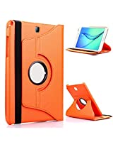 TGK Leather 360 Degree Rotating Case Cover Stand for Samsung Galaxy Tab S2 9.7 Inch SM T810 T815 - Orange