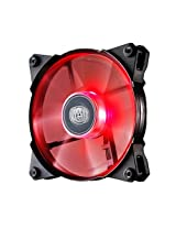 Cooler Master JetFlo 120 - High Performance 120 mm Computer Case Fan with Long-Lasting POM Bearing (Red LED)