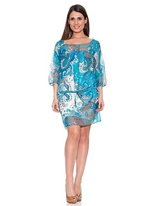 Caramelo Vestido Clásico (Azul)
