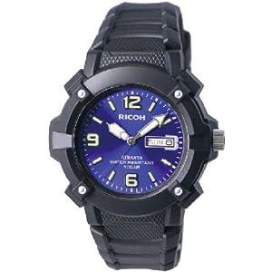 [リコー] RICOH 腕時計 アトランタ スポーツ用防水タイプ 10年電池 デュアルカーブアクリルガラス 350007-02 メンズ