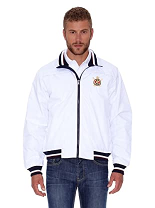 Polo Club Chaqueta Micro Zipper (Blanco)