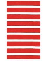 Caspari Paper Napkins 11861G Bretagne Red Guest Napkins Pack of 30