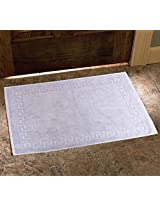 Avira Home 900 GSM Greek Design Terry Mat-Bathmat-Floor Mat-Door Mat-100% Cotton-Silver