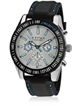 Titan Octane Chronograph White Dial Men's Watch -  9491KP03