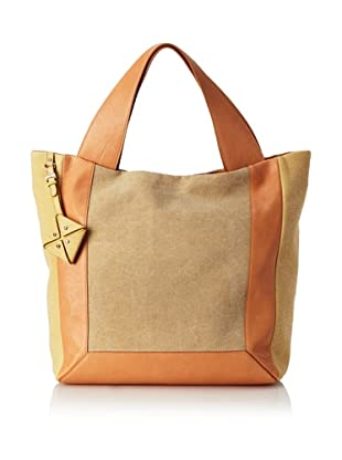 Allibelle Women's Canvas Market Tote (apricot)