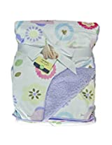 IMPORTED CARTER'S Blanket / Layette - Purple n flowers 76cm X 102cm