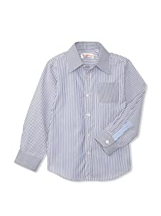 Hippototamus Button-Front Shirt (Stripe/Stripe Blue Back)
