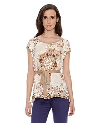Cortefiel Camiseta Estampada Cinturón (Tostado)