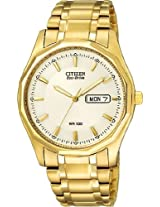 Citizen Eco-Drive Gold-Tone Mens Watch BM8432-53P