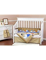 Dream On Me Jungle Babies 5 Piece Crib Reversible Full Size Crib Set