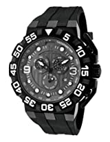 Challenger Black Silicone Chronograph Grey Dial Black Ip Case (10125-Bb-014)