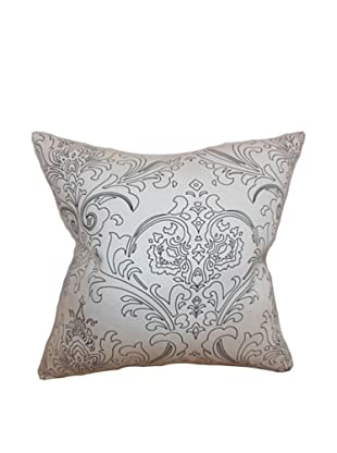 The Pillow Collection Uanita Floral Pillow, Black/White