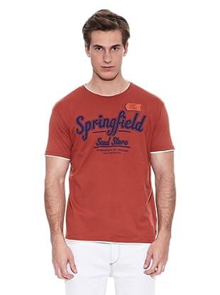 Springfield Camiseta E2 Spf Doble (Rojo)