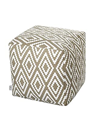 Glam Home Pouf Ela taupe/weiß