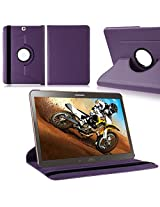 TGK Leather 360 Degree Rotating Case Cover Stand for Samsung Galaxy Tab S2 9.7 Inch SM T810 T815 - Purple