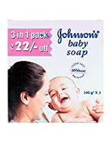 Johnson's Baby Soap 100gm - 3 Pack