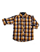 LITTLE MAN Cotton Boy's Shirt (LM10C2_16 , Yellow, 16)