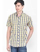 Checks Yellow Casual Shirt
