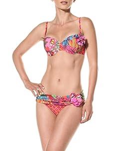 Nanette Lepore Swim Women's Polynesian Paradisedreamer Bikini Bottom (Tropical)