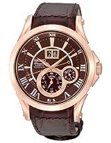 Seiko Chronograph Brown Dial Men's Watch - SNP038P1