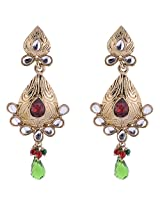 Sapna Jewellery Gold plated Dangle & Drop Earring For Women (Multi-Colour)