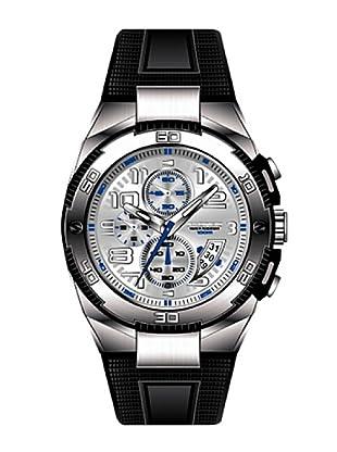 K&BROS 9479-2 / Reloj de Caballero  con correa de caucho Plateado