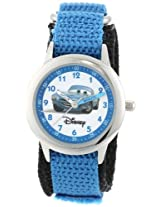Disney Kids W000096 Cars Stainless Steel Time Teacher Watch with Blue Band