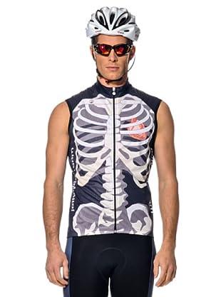 Jollywear Chaleco Antivento Windtex Skeletor (blanco/gris)
