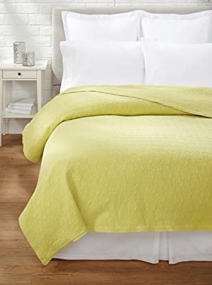 Belle Epoque Rose Coastal Matelassé Coverlet (Citron)
