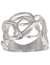 925 Sterling Silver Knotted Ring - Size 7