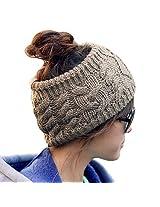 Women Girl Knit Warm Headband Hairband Head Wrap Hat Khaki