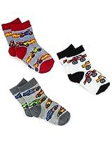 Jefferies Socks Baby Boys' Speedy Triple Treat Socks 3 Pair Pack, Speedy, Toddler