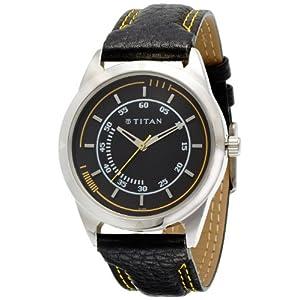 Titan Purple Analog Black Dial Men's Watch - NE1590SL03