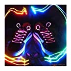 GB70-LED NEON Laser Lights Flashing Shoelace Shoe Lace! Fits all shoes! See Video!